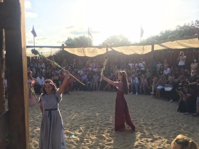 ballerine romane con spettatori