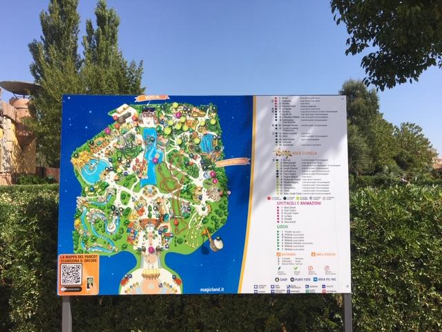 mappa parco divertimenti