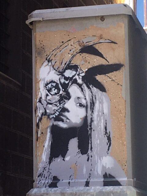 stencil, graffito muro di firenze