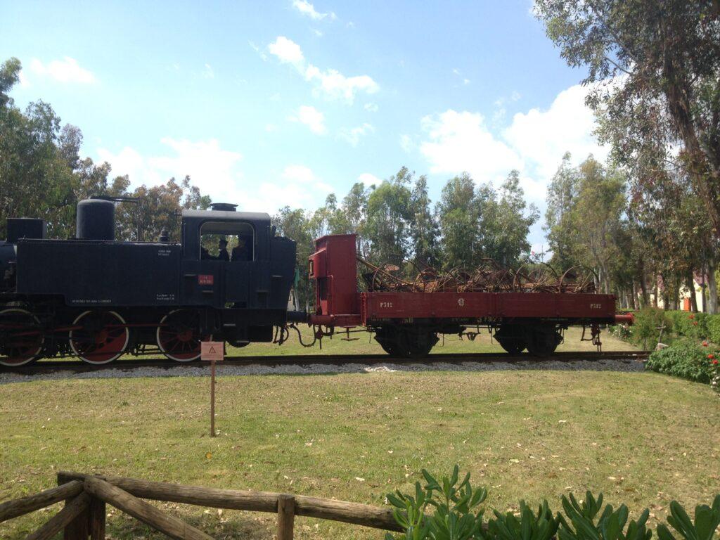 treno in giardino